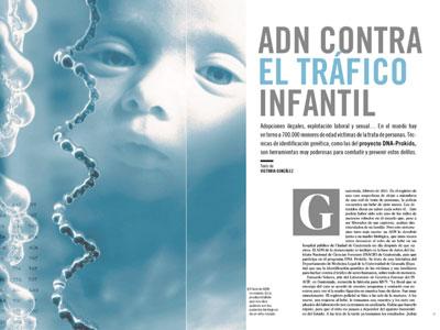 ADN contra el tráfico infantil